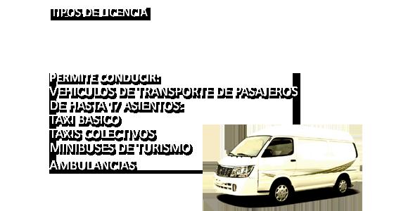 Tipos de Licencia A2